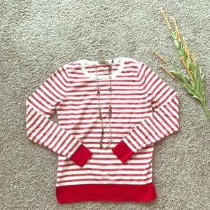 Red Striped Loft Sweater